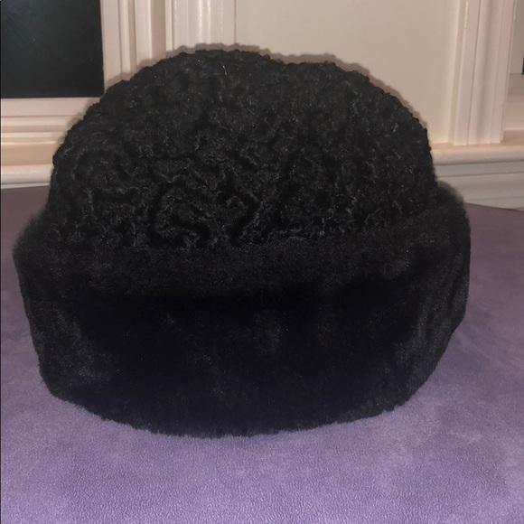 41006535c Vintage black winter hat Macy's Men's store NY